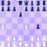 Szturman sytuacja w szachy Fotografia Royalty Free