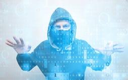 szturmowa pluskwy hackera klawiatura machinalna Zdjęcia Stock