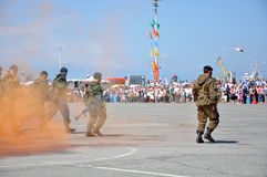 szturmowi żołnierz piechoty morskiej Zdjęcia Royalty Free
