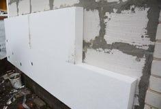 Sztywno wyrzucona polistyrenu domu ściany izolacja Izolowania hou obraz royalty free