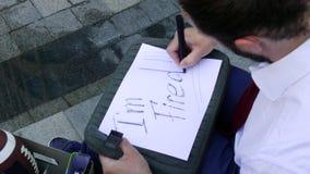 Szukać praca znaków pisać zdjęcie wideo