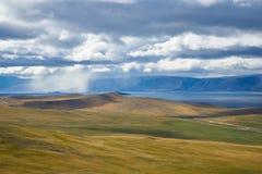 Szukać samotność na Jeziornym Baikal fotografia royalty free