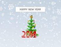 Szuka dla Szczęśliwego nowego roku 2014 Zdjęcie Stock