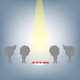 Szukać ludzi dla prawej akcydensowej ostrości światłem reflektorów, działu zasobów ludzkich pojęcia ilustracyjny wektor w płaskim Obraz Royalty Free