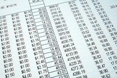 szukać rachunków Obrazy Stock