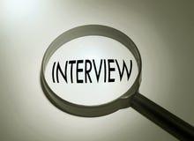 Szukać wywiad Fotografia Stock