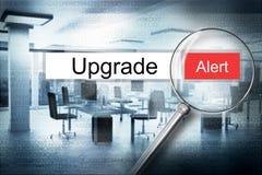 Szukający ulepszenie w adresu baru magnifier ostrzega 3D ilustrację Fotografia Stock