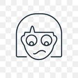Szumowiny wektorowa ikona odizolowywająca na przejrzystym tle, liniowe szumowiny t ilustracja wektor