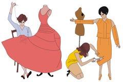 szwaczką ilustracji