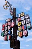Szwajcar Dworski Kantonalny Drzewny Londyński Anglia Obrazy Royalty Free