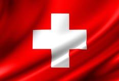 Szwajcar flaga Fotografia Royalty Free
