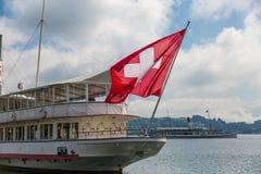Szwajcara prom na Jeziornej lucernie Obrazy Royalty Free