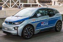 Szwajcara transportu polici BMW i1 eklektyczny samochód zdjęcie stock
