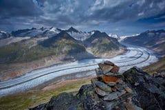 Szwajcaria, Aletch arena - Zdjęcie Royalty Free