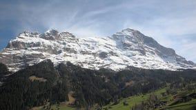 Szwajcaria, góry wliczając Północnej twarzy Zdjęcie Stock