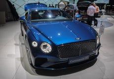 Szwajcaria; Genewa; Marzec 8, 2018; Bentley Kontynentalny GT; The zdjęcia stock