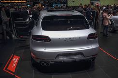 Szwajcaria; Genewa; Marzec 8, 2018; Porsche Macan Turbo; 88t Zdjęcie Stock