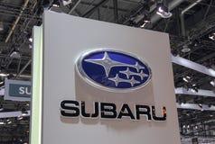 Szwajcaria; Genewa; Marzec 8, 2018; Subaru emblemat; 88th zdjęcia royalty free
