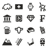 Szwajcaria ikony Zdjęcia Royalty Free