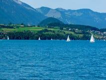 Szwajcaria, Lauterbrunnen, SCENICZNY widok morze I góry zdjęcie royalty free