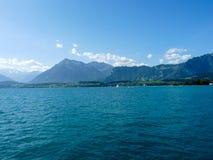 Szwajcaria, Lauterbrunnen, SCENICZNY widok morze I góry aga Obrazy Stock