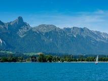 Szwajcaria, Lauterbrunnen, SCENICZNY widok morze I góry aga Zdjęcie Royalty Free
