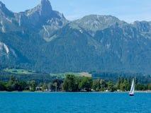 Szwajcaria, Lauterbrunnen, SCENICZNY widok morze I góry aga Zdjęcia Royalty Free
