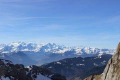 Szwajcaria linia horyzontu Obrazy Royalty Free