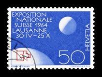 Szwajcaria na znaczkach pocztowych obraz stock