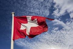Szwajcaria ` s flaga państowowa Obraz Stock