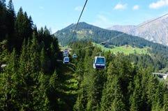 Szwajcaria: Silleren wagon kolei linowej, Adelboden, Bernese Oberland obrazy royalty free