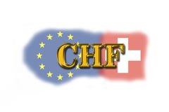 Szwajcaria waluta Zdjęcia Royalty Free