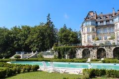 Szwajcaria, WRZESIEŃ - 04: Dom w Alps Zdjęcia Royalty Free
