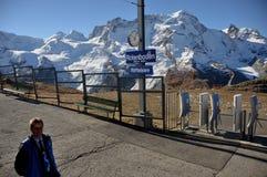 Szwajcarscy alps: dworzec Riffelsee Rotenboden blisko Zermatt fotografia stock