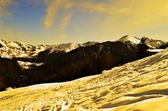 Szwajcarscy Alps przy zmierzchem Obraz Royalty Free
