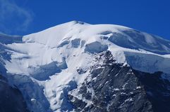Szwajcarscy Alps: Szczyt góra obraz royalty free