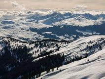Szwajcarscy alps tuż po półmrokiem obraz stock