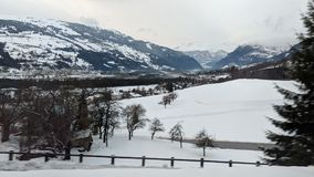 Szwajcarscy Alps zakrywający w śniegu obraz royalty free