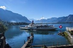 Szwajcarska łódź Fotografia Stock