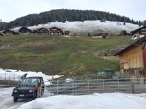 Szwajcarska dolina w wiośnie Obraz Royalty Free
