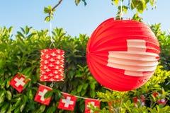 Szwajcarska plenerowa dekoracja obraz stock