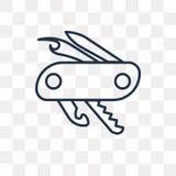 Szwajcarska wojsko noża wektorowa ikona odizolowywająca na przejrzystym tle, ilustracji