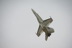 Szwajcarski Airforce F18 szerszenia myśliwiec Fotografia Royalty Free