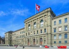 Szwajcarski Federacyjny instytutu technologii budynek Zdjęcie Royalty Free
