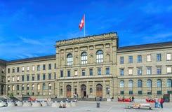 Szwajcarski Federacyjny instytutu technologii budynek Obrazy Royalty Free