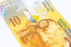 Szwajcarski frank obraz stock