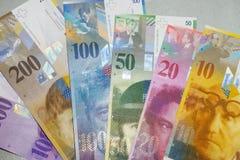 Szwajcarski frank fotografia royalty free