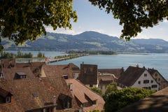 Szwajcarski jezioro fotografia royalty free