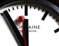 Szwajcarski kolej zegar Obrazy Stock