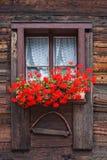 Szwajcarski okno Zdjęcia Stock